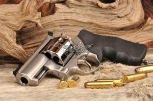 SRH Alaskan .454 Casull Guide Gun - BCA Rear, custom fiber optic front sight, lanyard ring, Bead Blast and Hi-Polish