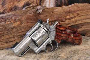 SRH Alaskan - Heirloom Grade; Fully engraved, Tritium Nightsight, CobraChrome, World Class Cocobolo Grips, Jewelled Trigger and Hammer, Moonclipped, BCA rear
