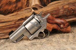 SRH Alaskan .454 Casull - Jewelled Hammer and Trigger, BCA Rear sight, Small Wonder Gold Bead Front sight, Bolivian Rosewood Grips